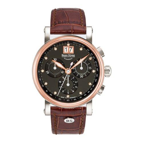 Bruno Söhnle Women's Quartz Watch with Silver XS Armida Chronograph Quartz Leather 17-63115-751