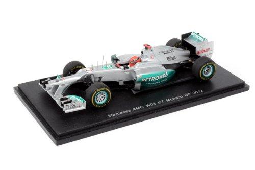 スパークモデル 1/43スケール メルセデス AMG ペトロナス F1 チーム W03 No.7/2012 モナコGP ミハエル・シューマッハ