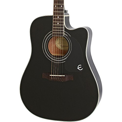epiphone pro 1 ultra solid top acoustic electric guitar system for beginners gloss ebony. Black Bedroom Furniture Sets. Home Design Ideas