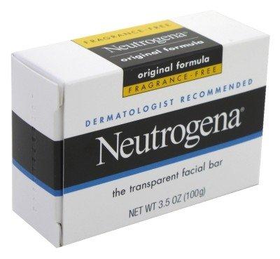Neutrogena Fragrance Free Transparent Facial Bar, Original Formula, 3.5 Ounce