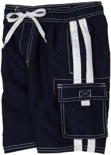 Kanu Surf Boys 2-7 Barracuda Swimwear Shorts, Navy, Medium (5/6)