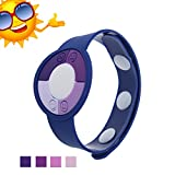 JideTech Round Shape Smile Face Ultraviolet Uv Tester with Color Changing Indicator Detector, 2015 Best Gift for Friends/Relatives and Loves Skin Protection in Sun Summer (Blue)