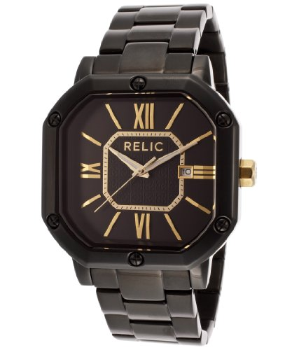 RELIC Auburn Black Analog Watch at Amazon.com