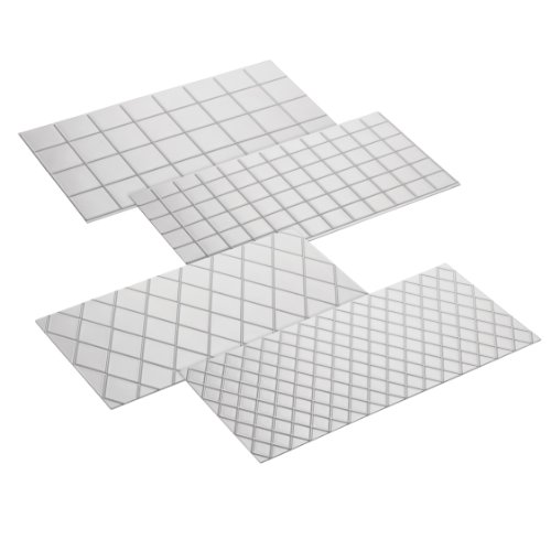 Cake Boss Decorating Tools 4-Piece Quilted Fondant Imprint Mat Set, Clear at Amazon.com