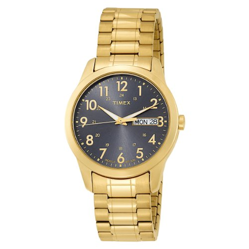 Timex Men's T2M936 Gold-Tone Analog Expansion Band Dress Stainless Steel Bracelet Watch