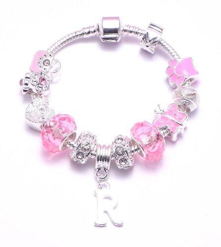 Personalised Children's Charm Bracelet Letter 'R' Pandora Style