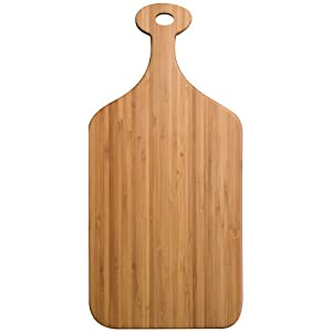 Totally Bamboo Greenlight Paddle Cutting Board, Medium