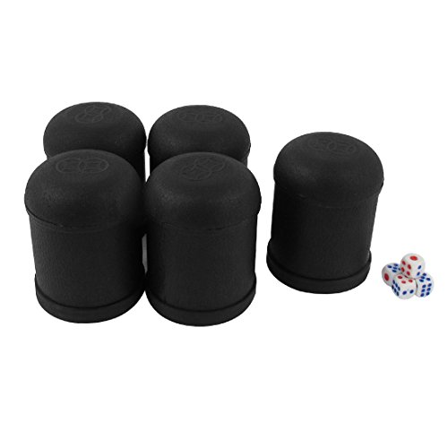 Sale!! Dice Cup Shaker KTV Party Bar Guessing Casual Tool 5 Pcs w 25 Dices