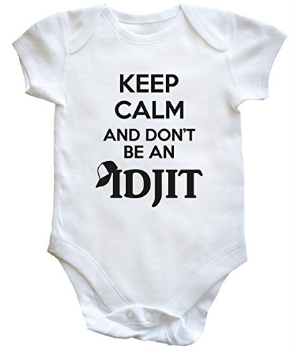 hippowarehouse-keep-calm-and-dont-be-an-idjit-baby-vest-boys-girls