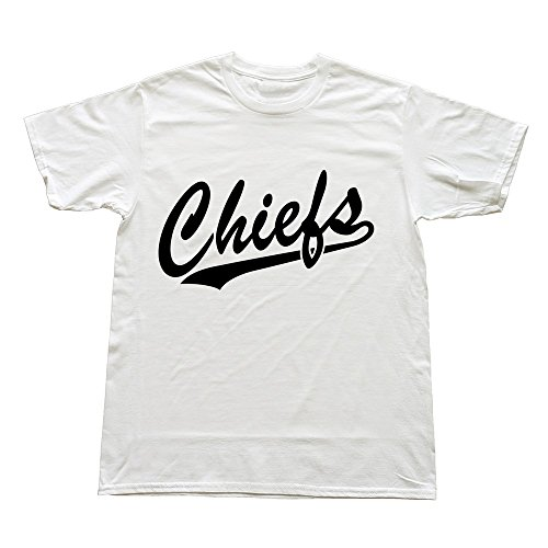Hoxsin White Men'S Chiefs Swag Casual T-Shirts Us Size L