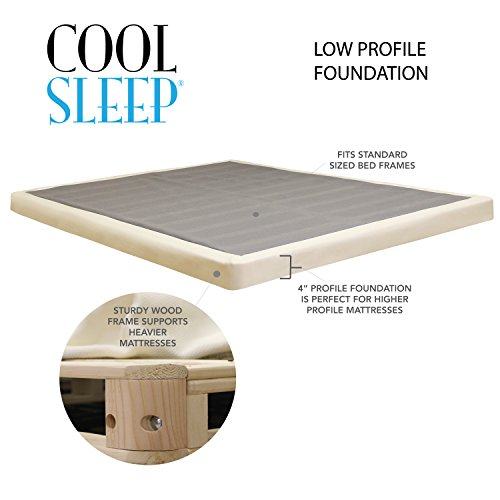 Low Profile Box Spring 4 Inch Great For Memory Foam
