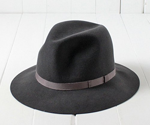 EDO エドハット クラッシャブル中折れハット 16266343 グレイッシュパープル Lサイズ 日本製 国産 中折れ帽子 中折れハット フエルトハット つば広ハット ソフト帽 羊毛 兎毛 ワイドブリム ラージブリム 折りたたみ 携帯 コンパクト ポケッタブル メンズ 男性 紳士 秋冬 EDOHAT 帽子