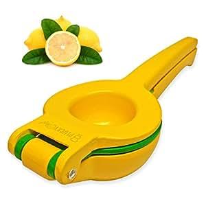 Plucky Chef Lemon Lime Manual Squeezer, Premium Double Bowl Citrus Fruit Juicer Press Design, Quality Enameled Aluminum