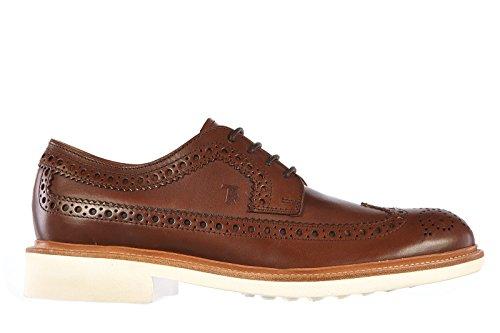 Tod's scarpe stringate classiche uomo in pelle nuove derby marrone EU 40.5 XXM0TC00C10D90S801