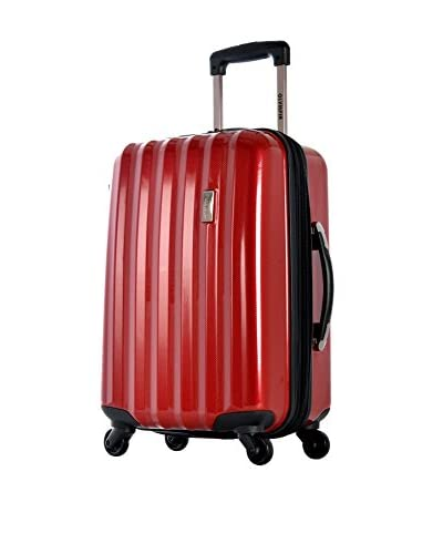 Olympia Titan 21 Inch Expandable Carry-On Hard Case Spinner, Red