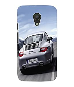 Fuson 3D Printed Car Designer Back Case Cover for Motorola Moto G2 - D579