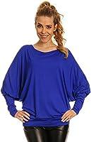 Glamour Empire. Femme Top en jersey manches longues chauve-souris. 109