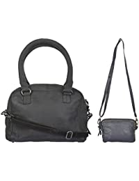 Ur Class Women's Handbag And Sling Bag (UC_29 + UC_11,Black And Blue)