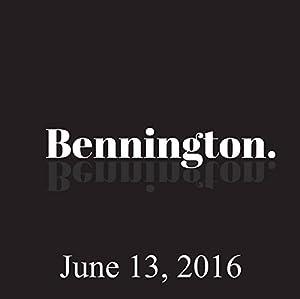 Bennington, June 13, 2016 Radio/TV Program