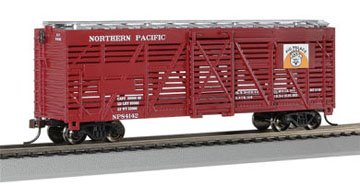 Bachmann Trains Northern Pacific 40' Stock Car-Ho Scale
