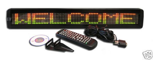 "40"" X 6"" Three Color Led Programmable Scrolling Message Display Sign"