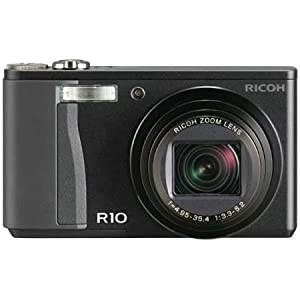 Ricoh R10 - Digital camera - compact - 10.0 Mpix - optical zoom: 7.1 x - supported memory: SD, SDHC - black