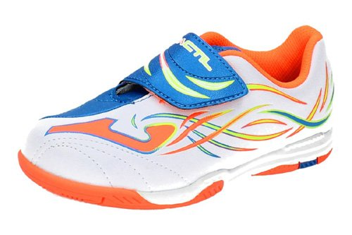 JOMA CALCETTO TACTIL JR 602 WHITE-BLUE INDOOR 32