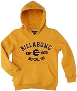 Billabong Stadium Sweatshirt à capuche garçon Orange FR : 10 ans (Taille Fabricant : 10)