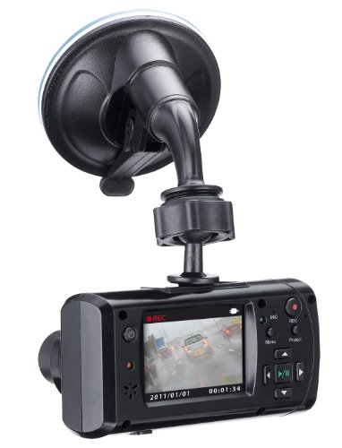 Genius Dvr-Hd550 Dashcam Vehicle Recorder With 105 Degree Angle Hd Video Recording