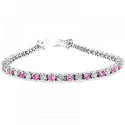 Lace Pink Cubic Zirconia Tennis Bracelet