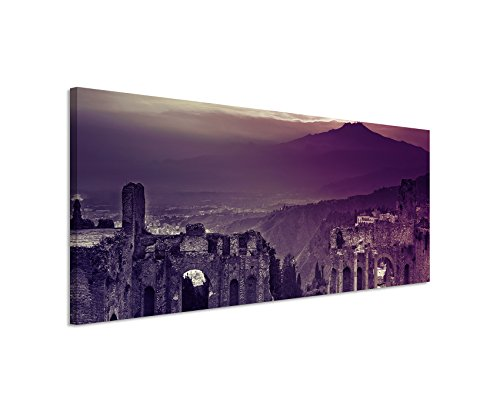 120x40-cm-panorama-canvas-picture-ruins-flavian-amphitheatre-atna-sunset