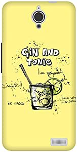 The Racoon Lean Lemon Gin and Tonic hard plastic printed back case / cover for Alcatel Onetouch Idol X 6040D