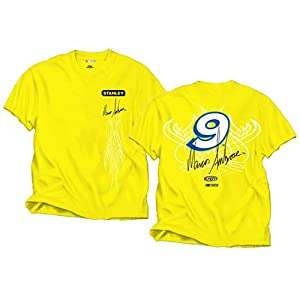 Buy #9 Marcos Ambrose 2012 Stanley Tools Team Color Mens Fan Tee by Brickels