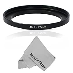 Goja 40.5-52MM Step-Up Adapter Ring (40.5MM Lens to 52MM Accessory) + Premium MagicFiber Microfiber Cleaning Cloth