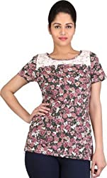 Rute casual short sleeve floral print women's top