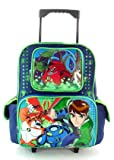 Ben 10 Combo - Ben 10 Large Rolling Backpack and Cars Land Cars Porcelain 3 Pieces Dining Set