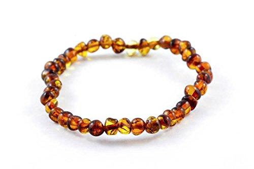 Healing Hazel 100% Balticamber Adult Bracelet, Cognac Polished - 1