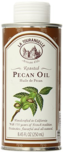 La Tourangelle Roasted Pecan Oil - Delightful, Buttery Notes - All-natural, Expeller pressed, Non-GMO - 8.45 Fl. Oz.