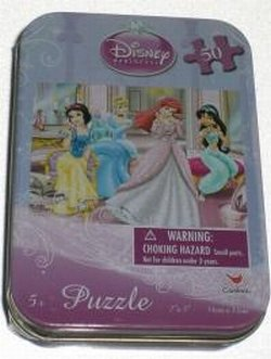 Disney Princess 50 Pc Puzzle In Tin - 1