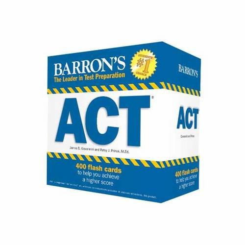 Barron's ACT Flash Cards, 2nd Edition :  410 Flash Cards to