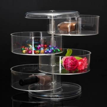 Acrylic-Rotating-Makeup-Cosmetic-Storage-Tool-Case-Organizer