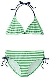 Kanu Surf Big Girls\' Bali Bikini Swimsuit, Green, 12