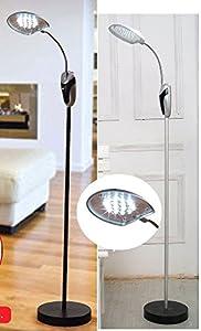 2 X L.e.d. Cordless Portable Flexible Floor Standard Lamp from Sherwood Agencies