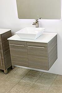 Windbay 30 Quot Wall Mount Floating Bathroom Vanity Sink Set