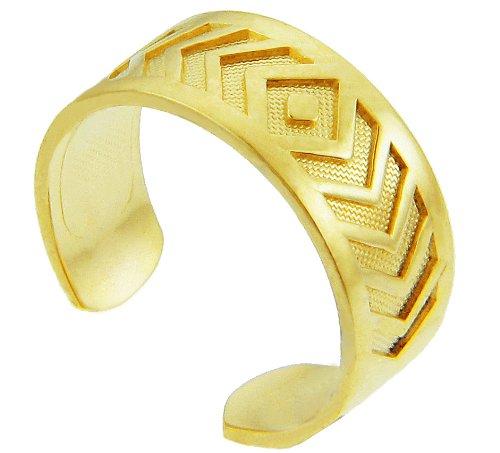 Yellow Gold Chevron Toe Ring (10K Gold)