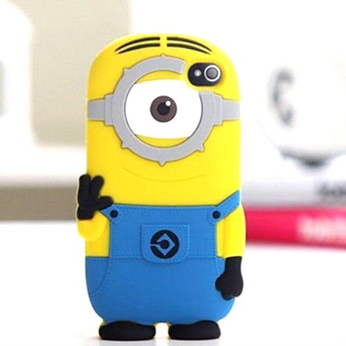 1 Eyed Cartoon Characters : Ititan yellow minion with one eye character soft