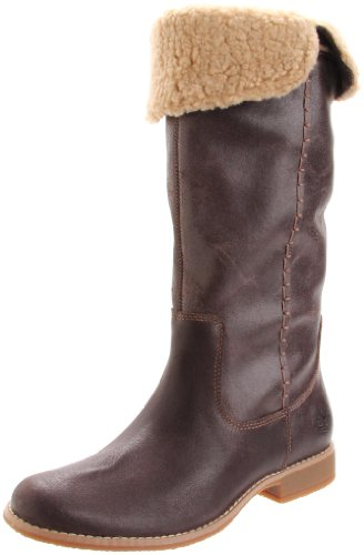 Timberland Women's Shoreham Tall Fold Down Boot Dark Brown Athletic Boots 25670 5 UK