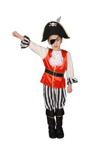 Deluxe Pirate Boy Set Costume Set - X-Large 16-18
