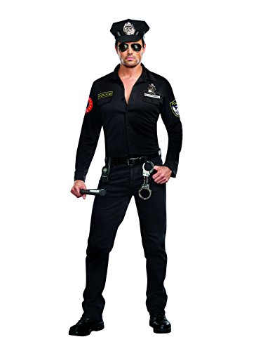 Dreamgirl Men's Sergeant Dick Spectacular Costume, Black, X-Large (Sexy Sergeant Costume)