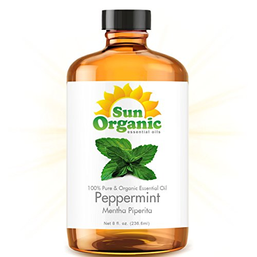 Peppermint - Mega 8 Ounce - Organic, 100% Pure Essential Oil (Best 8 Fl Oz / 236Ml) - Sun Organic